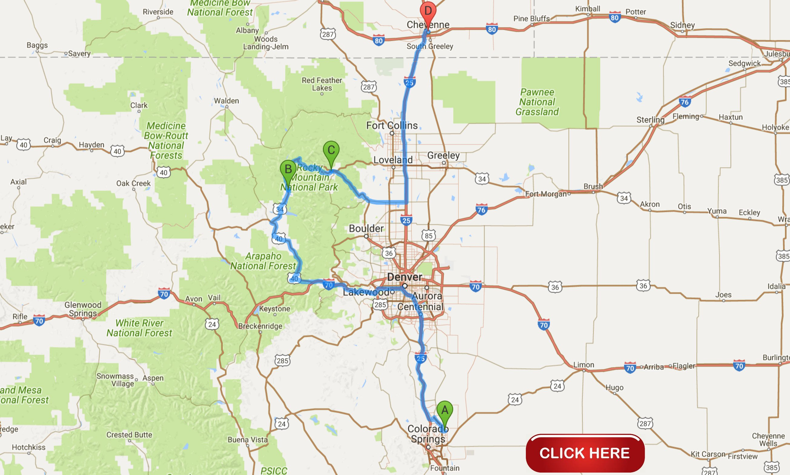 Rocky Mountain National Park Summer Vacation - Map my vacation route