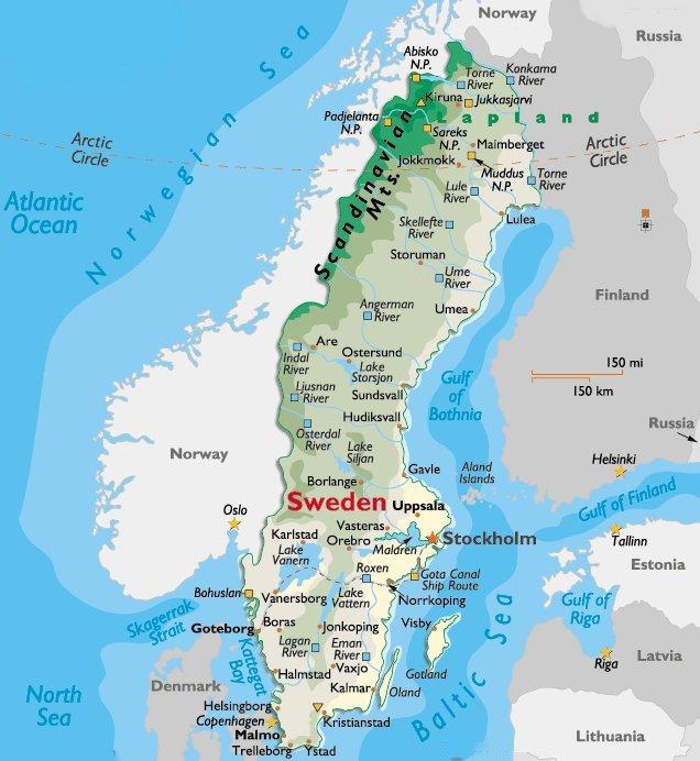 Stockholm Sweden European Vacation - Jokkmokk sweden map